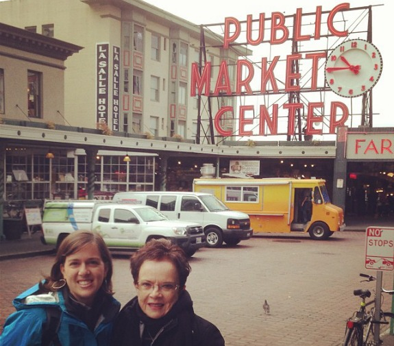 Pike Place Market with Mom
