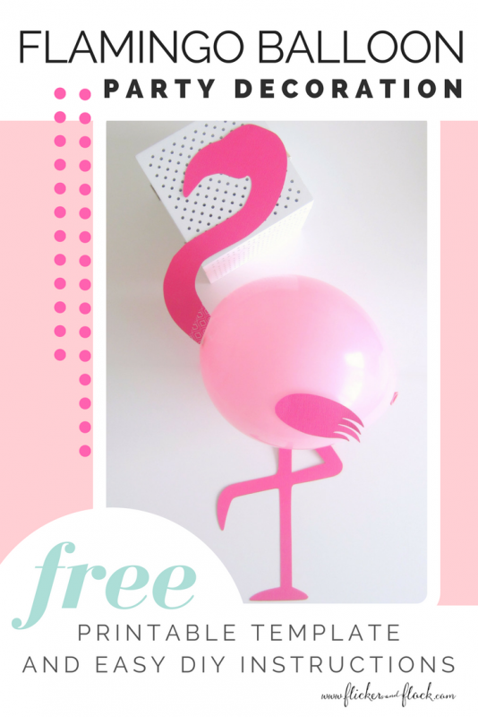 DIY Flamingo Party Balloons