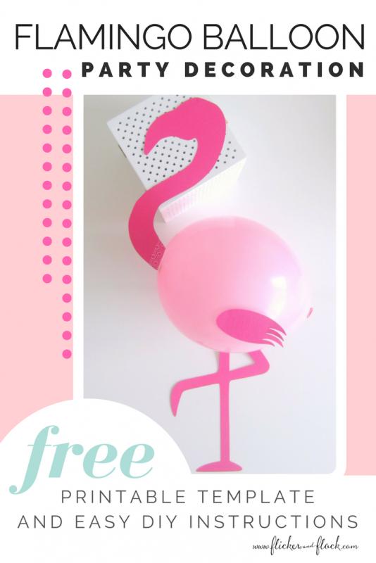 DIY Flamingo Party Balloons