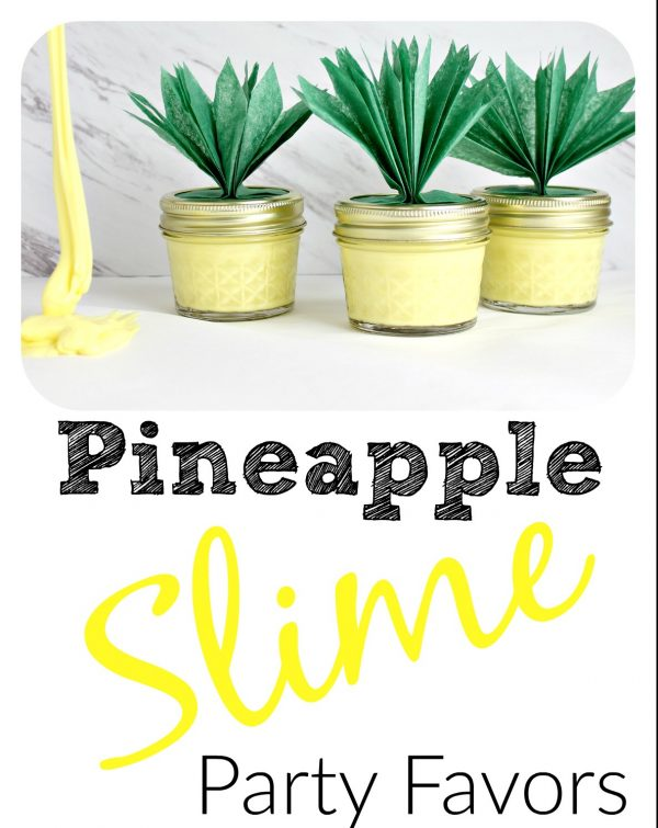 Pineapple Slime Party Favor