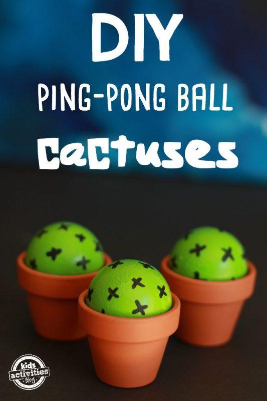DIY Ping-Pong Ball Cactuses