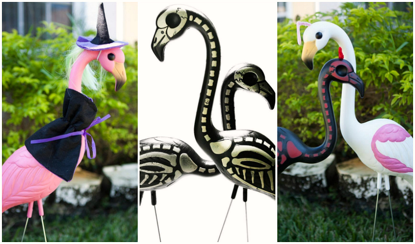 Give Your Pink Flamingo A Halloween Makeover Make And Takes