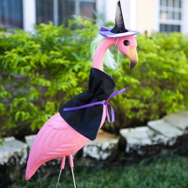Pink Flamingos Halloween Witch Makeover
