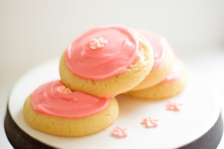 Pink Frosted Sugar Cookies Recipe