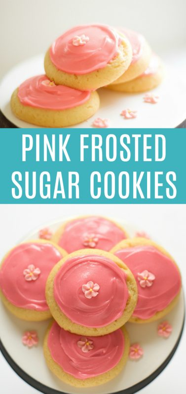 Pink Frosted Sugar Cookies YUM