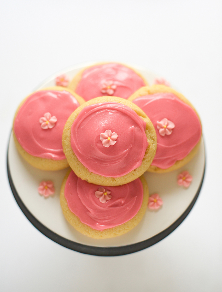 Pink Frosted Sugar Cookies