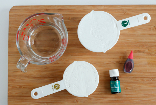 Pink Peppermint Play Dough Ingredients
