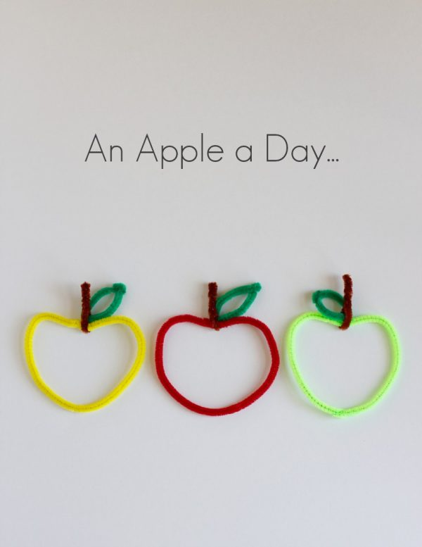 Pipe Cleaner Apple Kids Craft