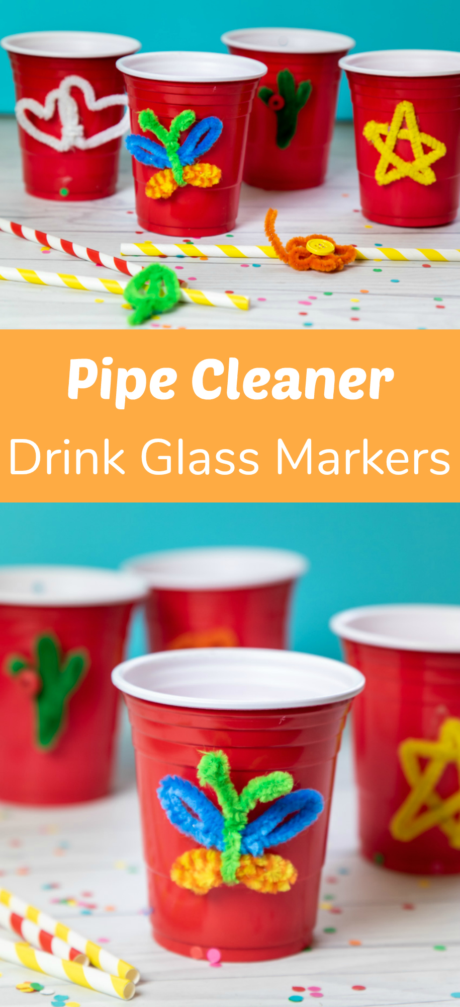 Pipe Cleaner Drink Glass Markers
