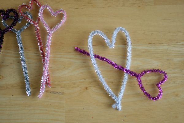 Pipe Cleaner Heart Arrows