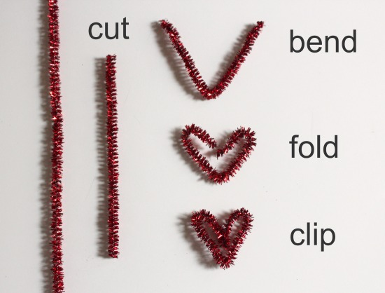 Pipe Cleaner Heart Paper Clip Instructions makeandtakes.com