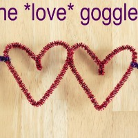 Pipe Cleaner Heart Goggles
