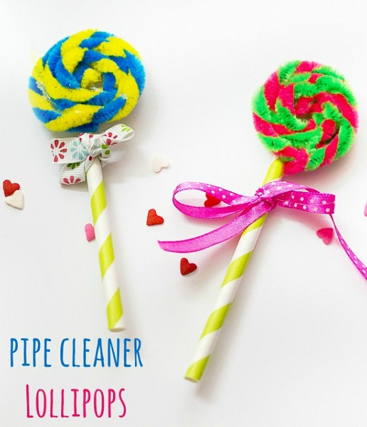 Pipe Cleaner Lollipops Kids Craft