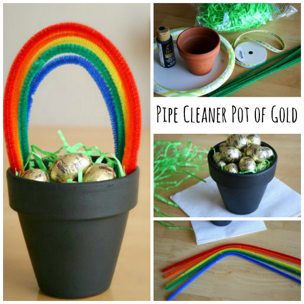 pot of gold craft make your own pipe cleaner pot of gold make and takes 5249