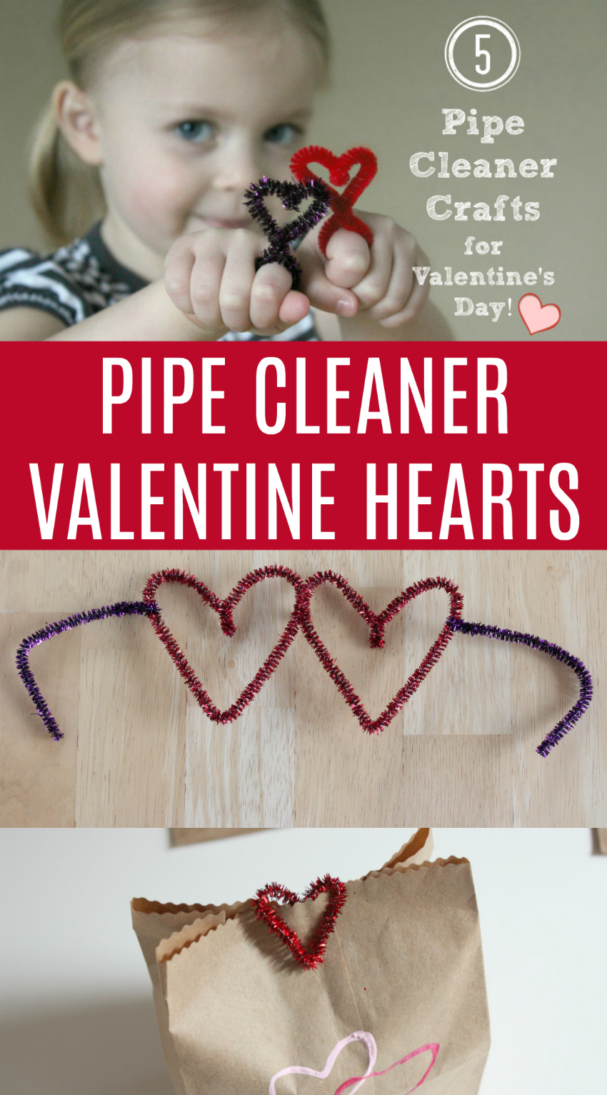 Pipe Cleaner Valentine Hearts to make