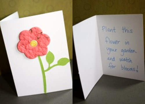 Handmade Plantable Greeting Card
