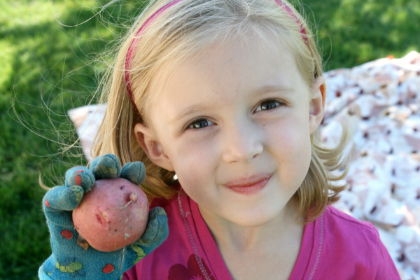 Planting a Potato Garden with Kids