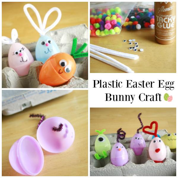 Plastic Easter Egg Bunny Kids Craft