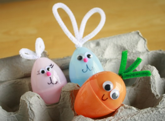 Plastic Easter Egg Bunny Craft