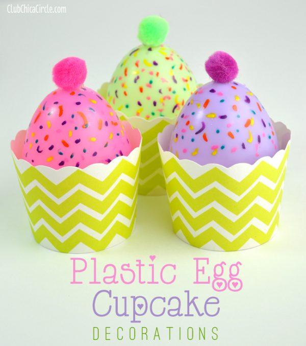 Easy Plastic Egg Cupcake Decoration