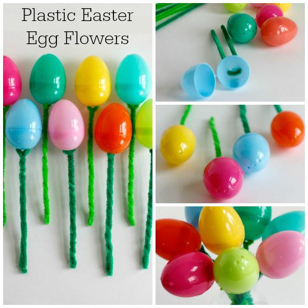 Plastic Easter Egg Flowers Kids Craft