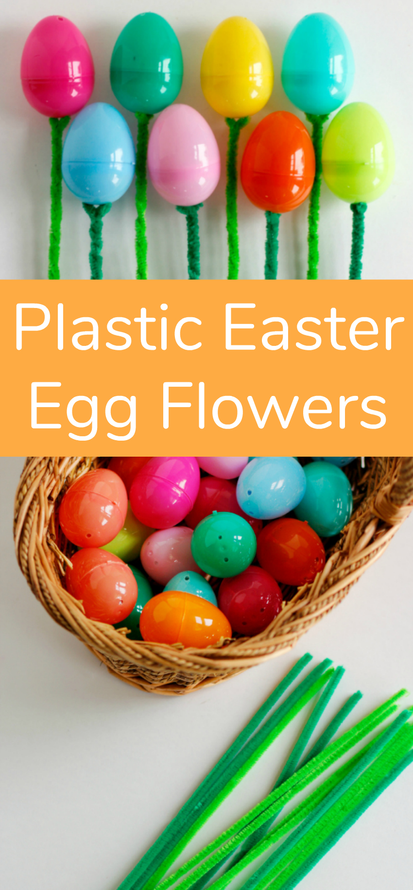 Plastic Easter Egg Flowers Tutorial