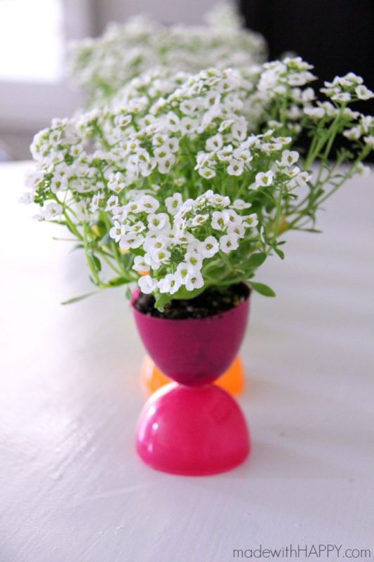 Plastic Easter Egg Flower Pots