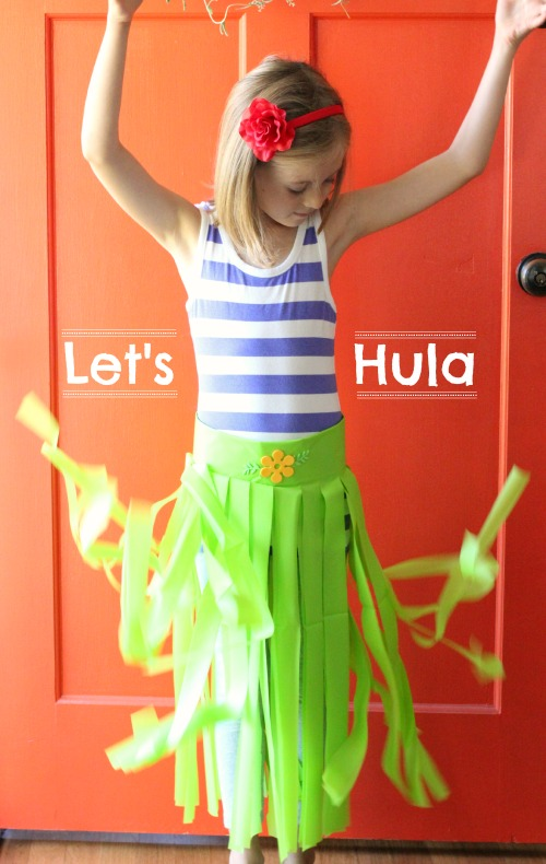 Plastic Tablecloth DIY Hula Skirts