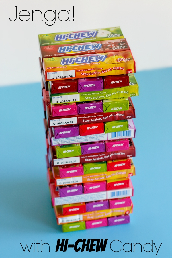 Play Jenga with Hi-Chew Candy