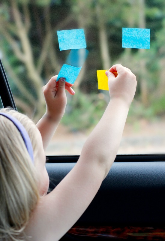 Playing with Sticky Notes in the Car