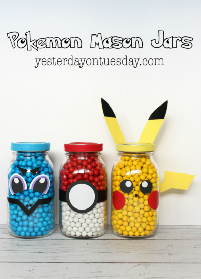 Pokémon Mason Jars