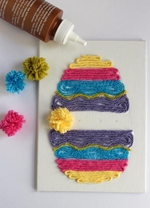Pom Pom Easter Yarn Art