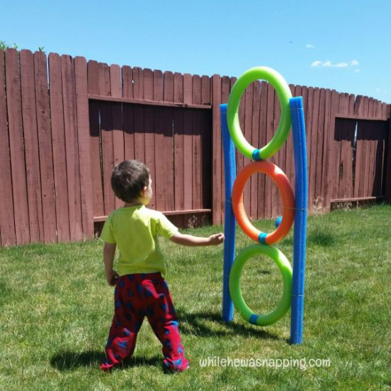 DIY Pool Noodle Toss Game