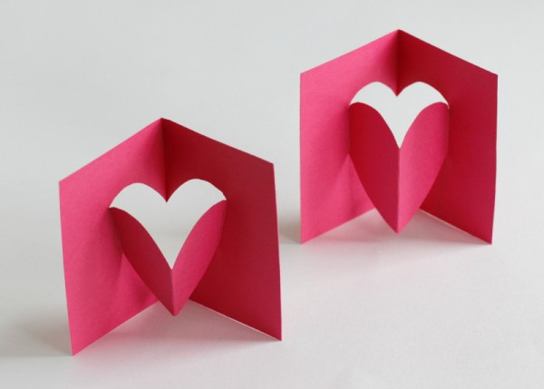 Pop Up Heart Card Popping Out