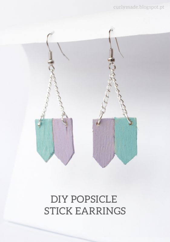 DIY Popsicle Stick Earrings