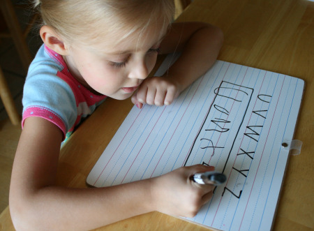 Preschool Writing Letters