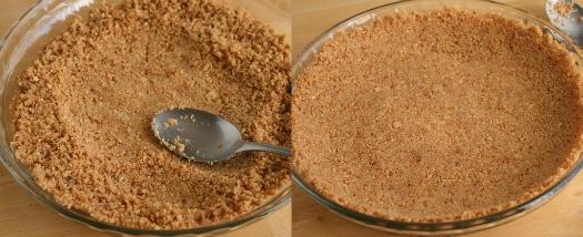 Pressing Homemade Graham Cracker Crust