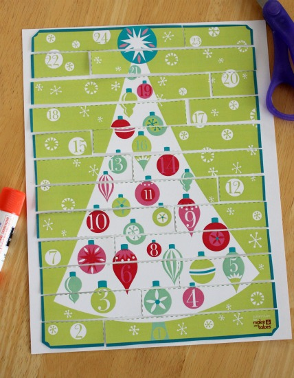 image relating to Free Printable Advent Calendar named Countdown in direction of Xmas with this Printable Introduction Calendar
