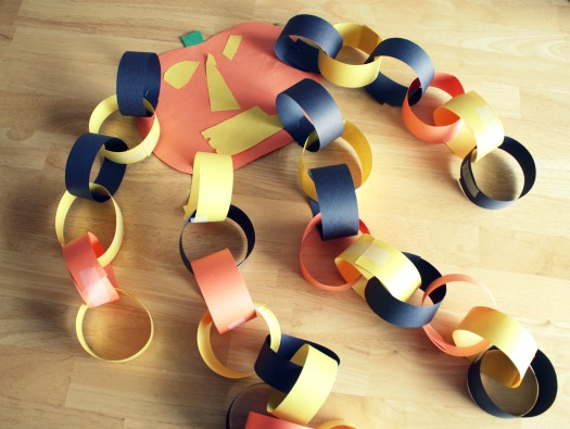 Counting Down to Halloween with a Pumpkin Paper Chain