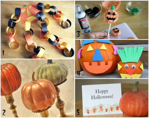 Pumpkin Halloween Crafts makeandtakes.com