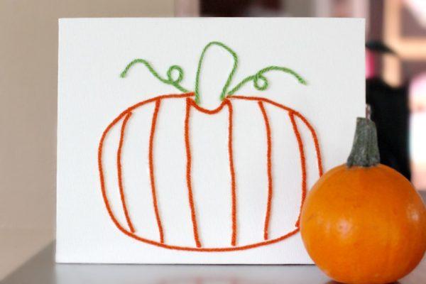 Pumpkin Yarn Art