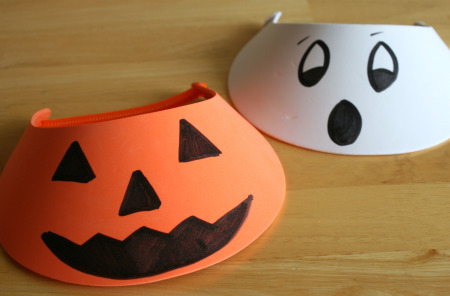 Pumpkin and Ghost Foam Hats