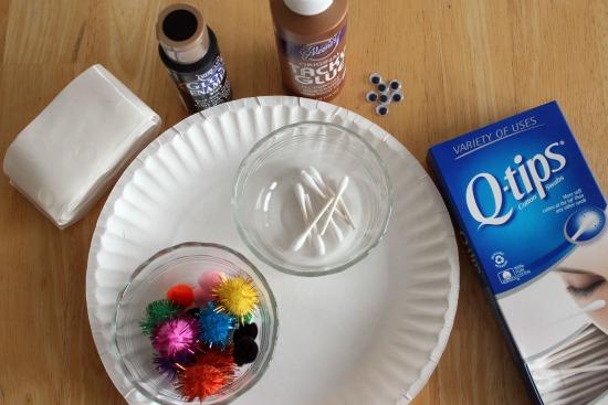 Q-tip Spider Craft Supplies