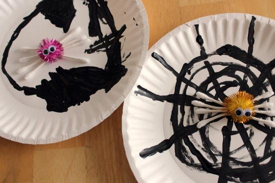 Q-tip Spider Craft