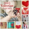 Quick Valentine Craft Ideas makeandtakes.com