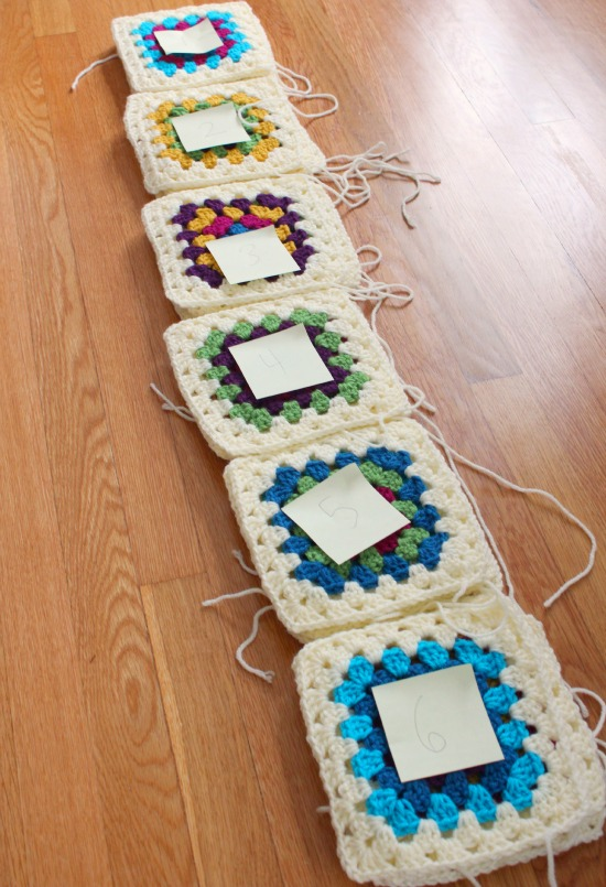 Quilting a Crochet Granny Blanket