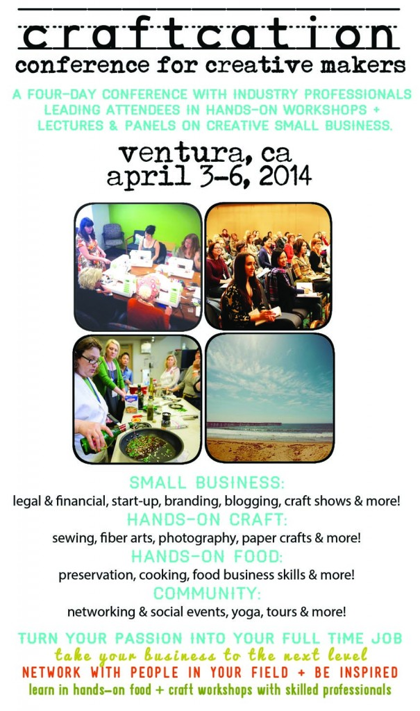 Craftcation Conference for Creative Makers in Ventura California April 2014
