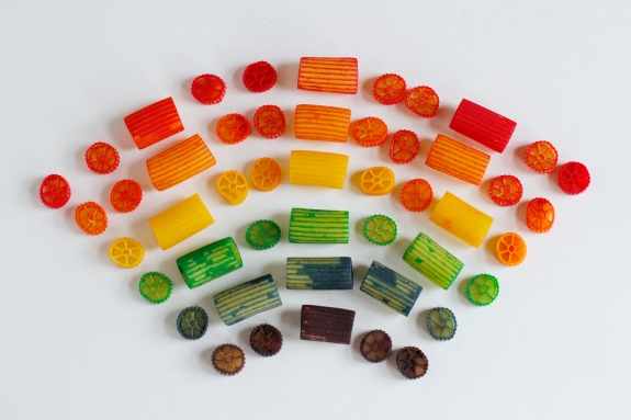 Rainbow Colored Pasta for Crafting Bracelets.jpg