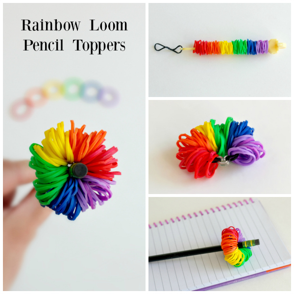Rainbow Loom Pencil Toppers Kids Craft