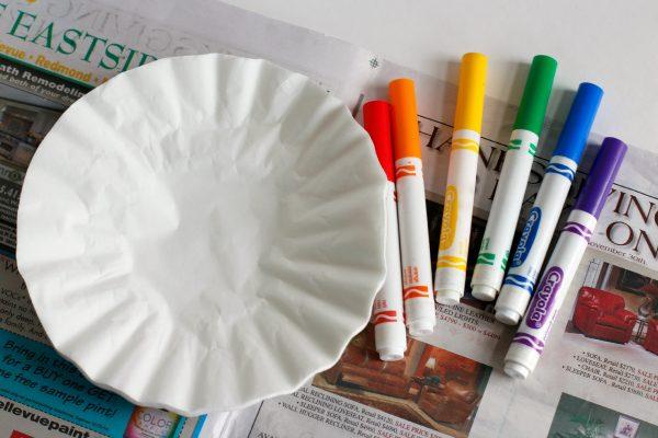 Rainbow Marker Coffee Filter Supplies